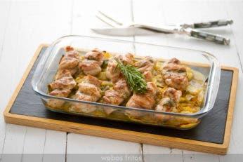 Contramuslos de pollo al horno