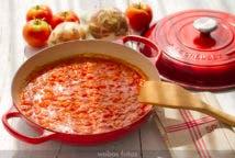 Fritada de tomate y cebolla
