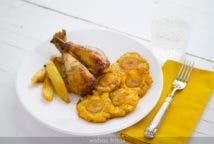 Patacones, una guarnición magnífica para un pollo asado