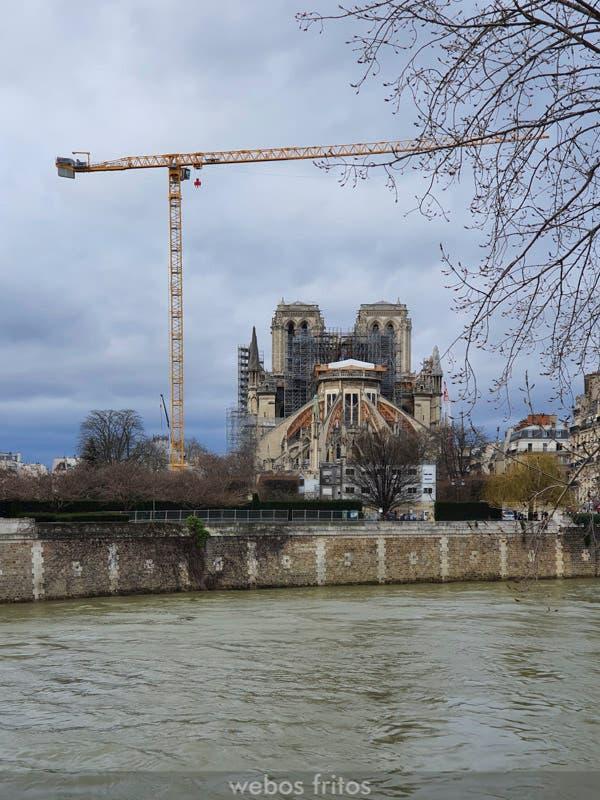 Las obras de rehabilitación de Notre Dame de París