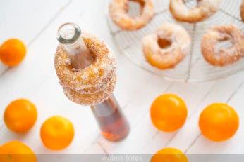 Rosquillas de candil de mandarina