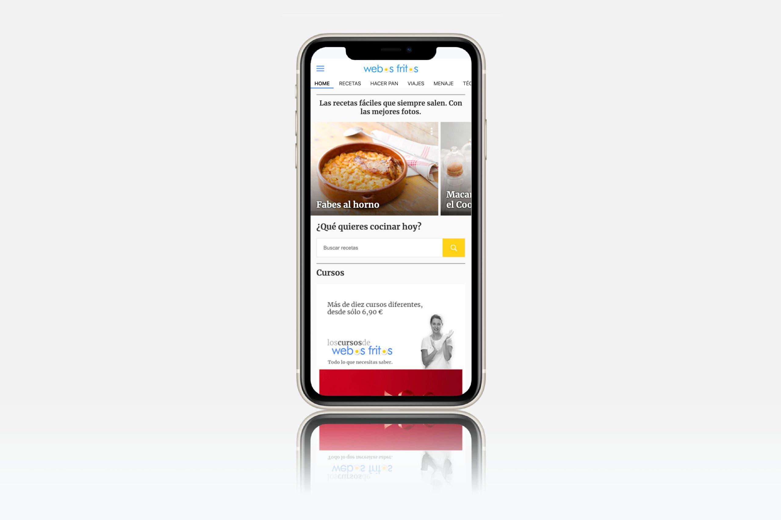 Nueva versión webos fritos para móviles