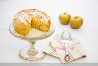 Tarta de masa filo y manzana