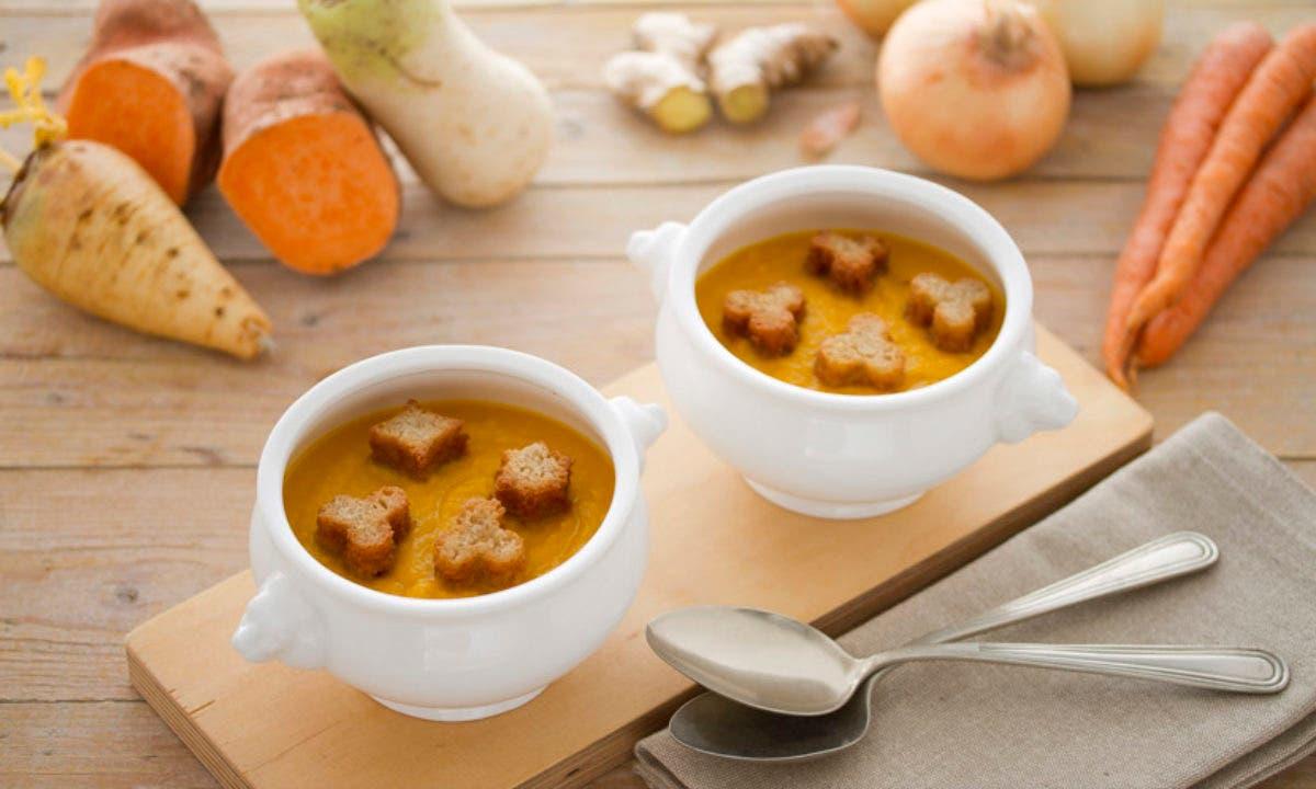 Crema De Zanahoria Y Batata Siempre Triunfa Webos Fritos La zanahoria es uno de los alimentos más saludables y que, afortunadamente se consume de forma habitual. receta de la crema de zanahoria y batata