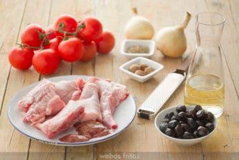 Ingredientes para el guiso de conejo