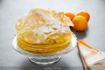 Tarta de crepes de naranja de Michel Guérard