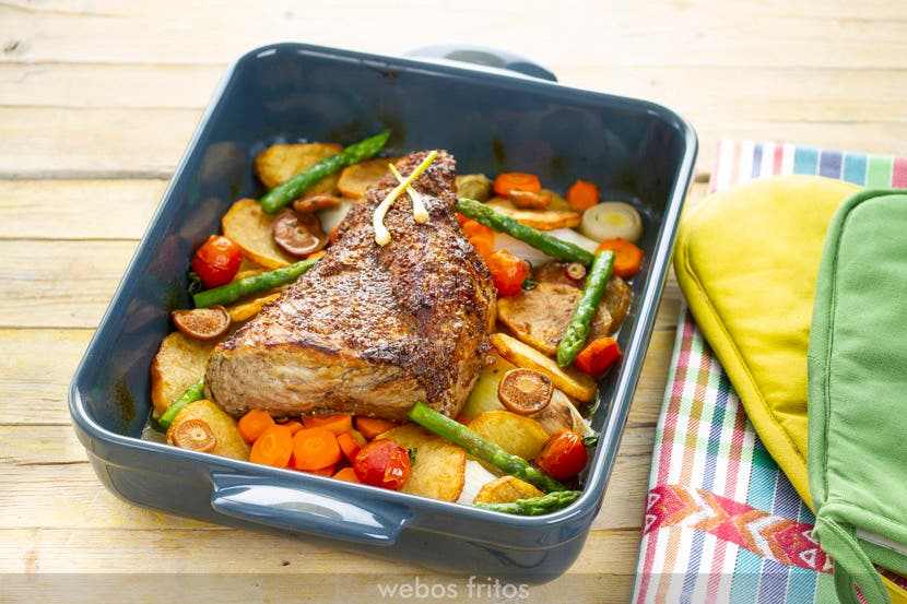 Rabillo de ternera gallega al horno con verduras
